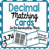 Decimal Matching Cards - To The Hundredths