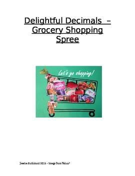 Decimal Math Center Activity - Shopping Spree