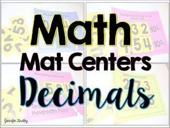 Decimal Math Centers {Math Mat Centers}