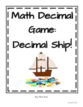 Decimal Math Game - Decimal Ship!