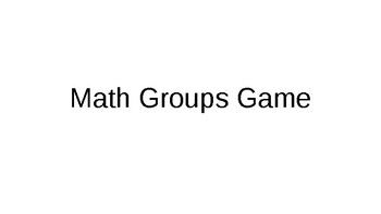 Decimal Math Group Game