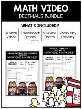 Decimal Math Video and Worksheet Bundle