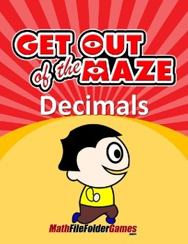 Decimal Mazes BUNDLE (Fun Decimal Worksheets)
