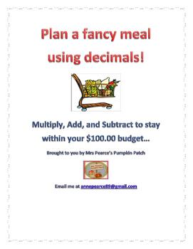 Decimal Meal Plan