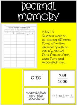 Decimal Memory
