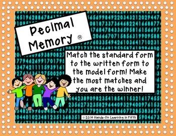 Decimal Memory Game