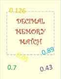 Decimal Memory Match