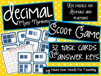 Decimal Mixed Numbers Scoot Game {Task Cards}
