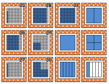 Decimal Model Calendar Number Cards