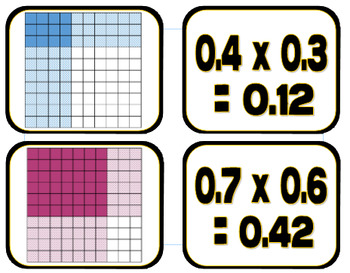 Decimal Model Multiplication Match-Up Game