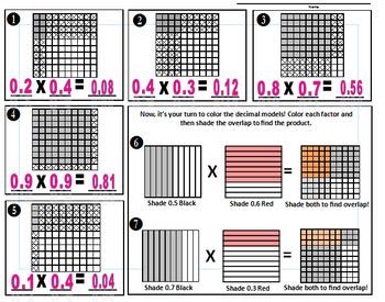 Decimal Model Multiplication Match-Up Game