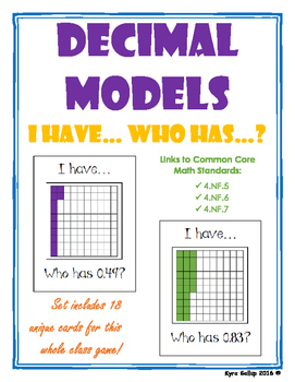 Decimal Models: I Have Who Has