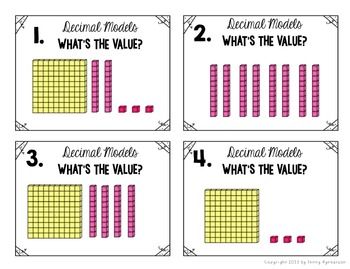 Decimal Models Task Cards!