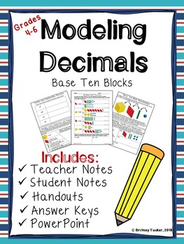 Decimal Models with Base Ten Blocks (LESSON, ACTIVITIES, & POWERPOINT)