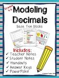 Decimal Models with Base Ten Blocks (LESSON, ACTIVITIES, &