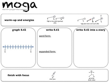 Decimal MOGA: Gr. 5 (Math/Yoga to Practice Place Value and Ops with Decimals)