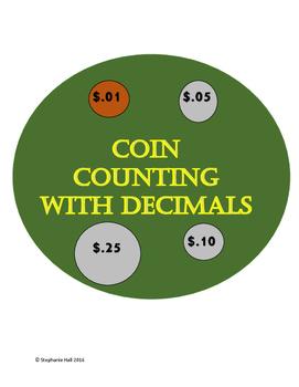 Decimal Money Coin Counter Charts
