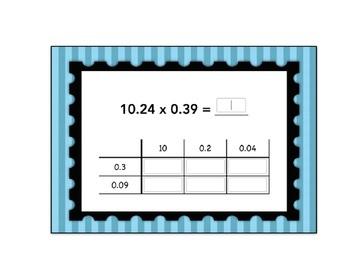 Decimal Multiplication Box Method Computation Boom Card Deck Set 2