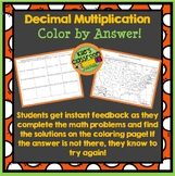 Decimal Multiplication Color by Answer!