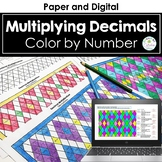 Decimal Multiplication Color by Number (Multiplying Decimals by Decimals)