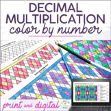 Decimal Multiplication Color by Number (Multiplying Decimals by Decimals)