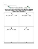 Decimal Multiplication Dice Activity