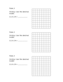 Decimal Multiplication Differentiated Task Cards