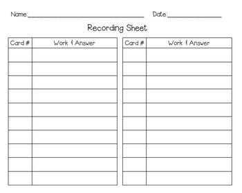 Decimal Multiplication & Division Self-Checking Task Cards
