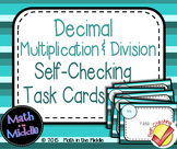 Decimal Multiplication & Division Self-Checking Task Cards