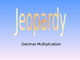 Decimal Multiplication Jeopardy Game
