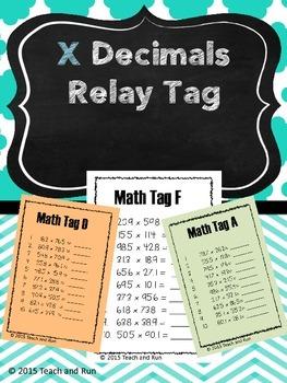 Decimal Multiplication Math Tag