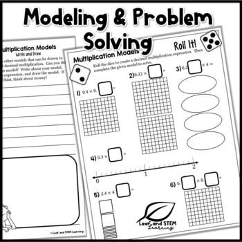 Decimal Multiplication Models Interactive Notebook Set