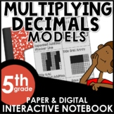 Multiplying Decimals Using Models Interactive Notebook Set