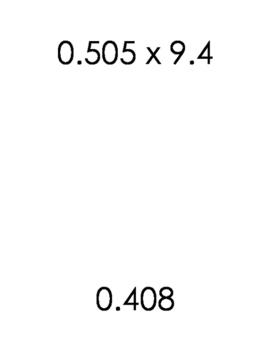 Decimal Multiplication Scavenger Hunt 6.NS.B.3