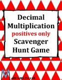 Decimal Multiplication Positives Only Scavenger Hunt Game