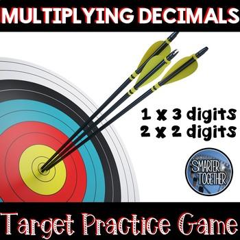 Decimal Multiplication Target Practice - Game