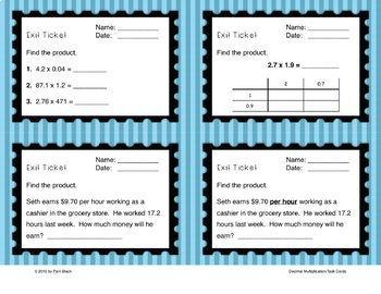 Decimal Multiplication Word Problem Task Cards {Differentiated}