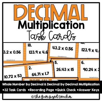 Decimal Multiplication Task Cards
