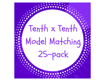 Decimal Multiplication: Tenth x Tenth Model Matching 25-pack
