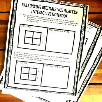 Decimal  Multiplication With Arrays and Lattice Work