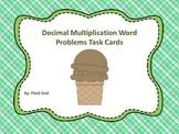 Decimal Multiplication Word Problems Task Cards