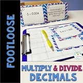 Decimal Multiplication and Division Task Cards -Footloose