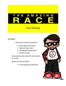 Decimal Multiplication and Division Review Game: Amazing R