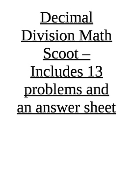 Decimal Multiplication and Division Stations