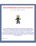 Decimal Multiplication and Division Task Cards: Super Hero