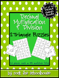 Decimal Multiplication and Division Triangle Puzzles