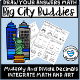 5th Grade Math Art Activities Multiply and Divide Decimals Worksheet Bundle