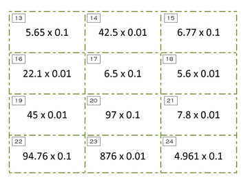 Decimal Multiplication by Powers of 10