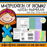 Decimal Multiplication with Models - 5th Grade
