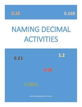 Decimal Names Card Games